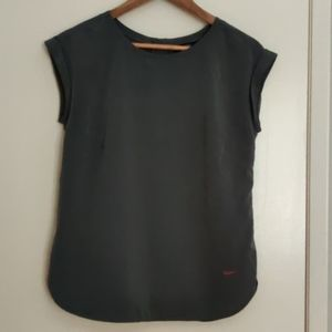 Charcoal grey blouse